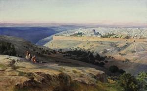 Edward_Lear_-_Jerusalem_from_the_Mount_of_Olives,_Sunrise